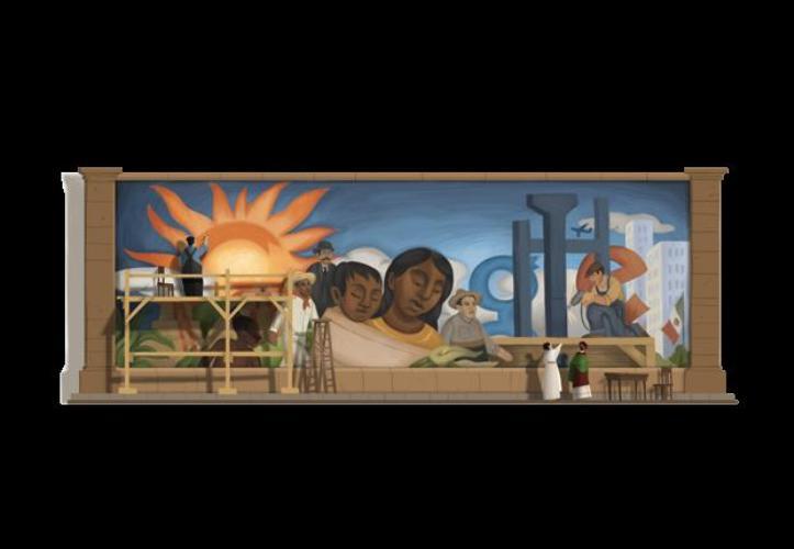 Dedican doodle a Diego Rivera