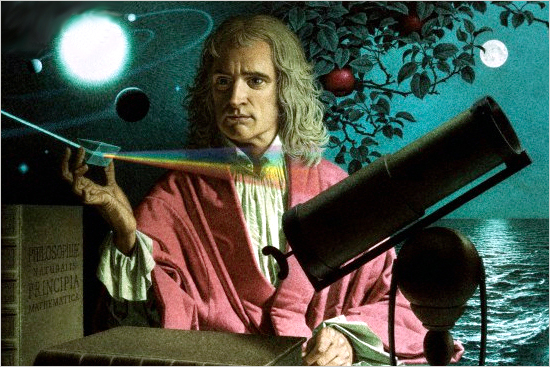 Isaac Newton en la red
