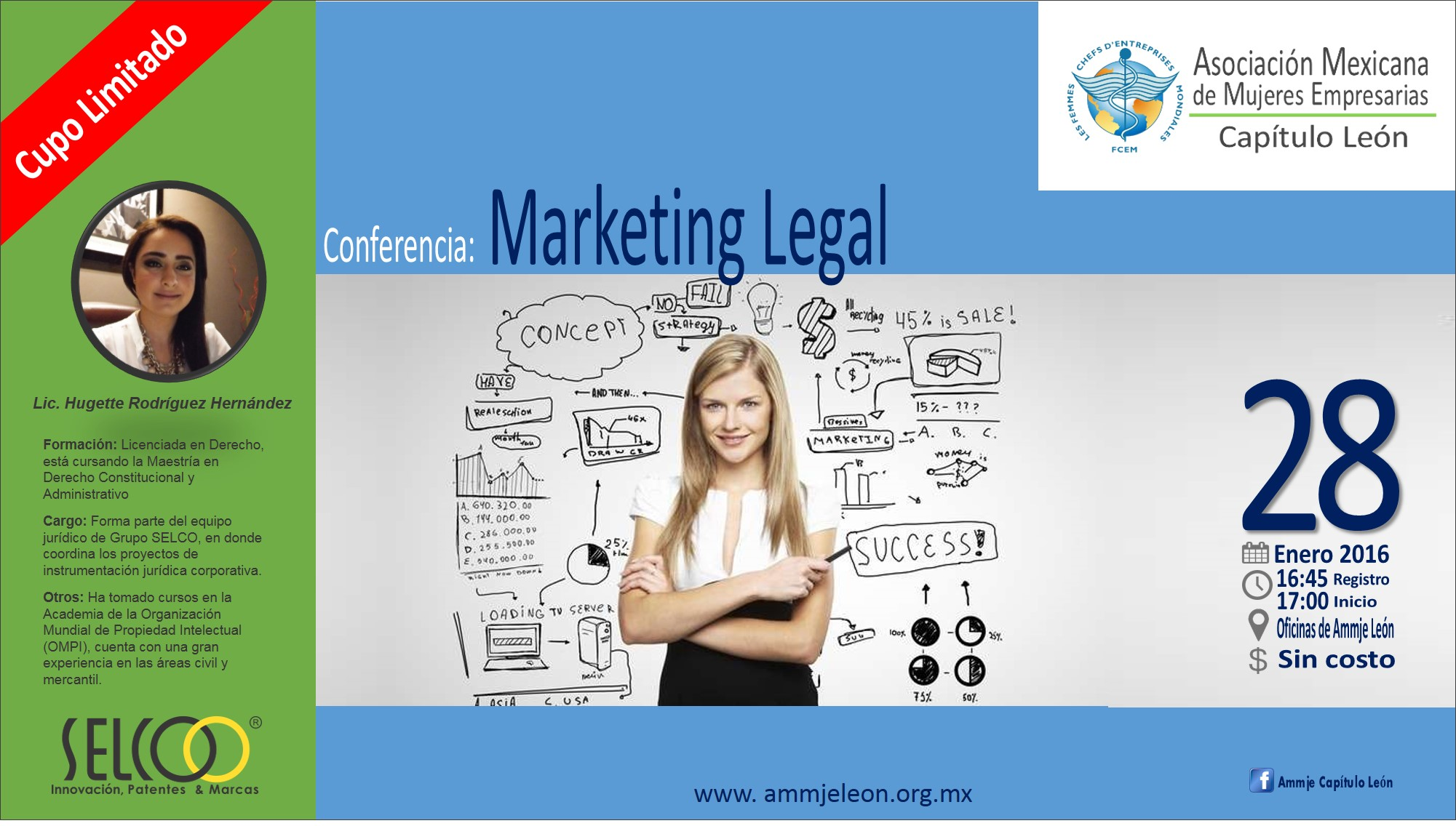 Conferencia Marketing Legal para la AMMJE capitulo León de SELCO ®