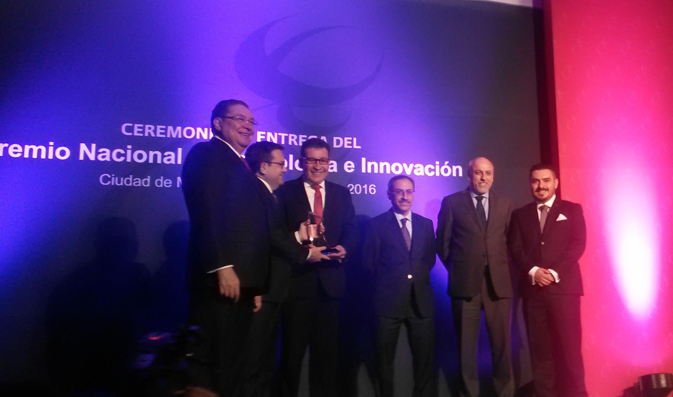Ganan dos centros de investigación y 10 empresas el Premio Nacional de Tecnología e Innovación 2016