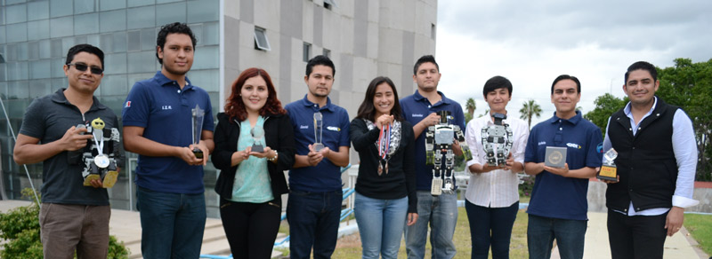 Triunfan estudiantes mexicanos en concurso de robótica en Taiwán
