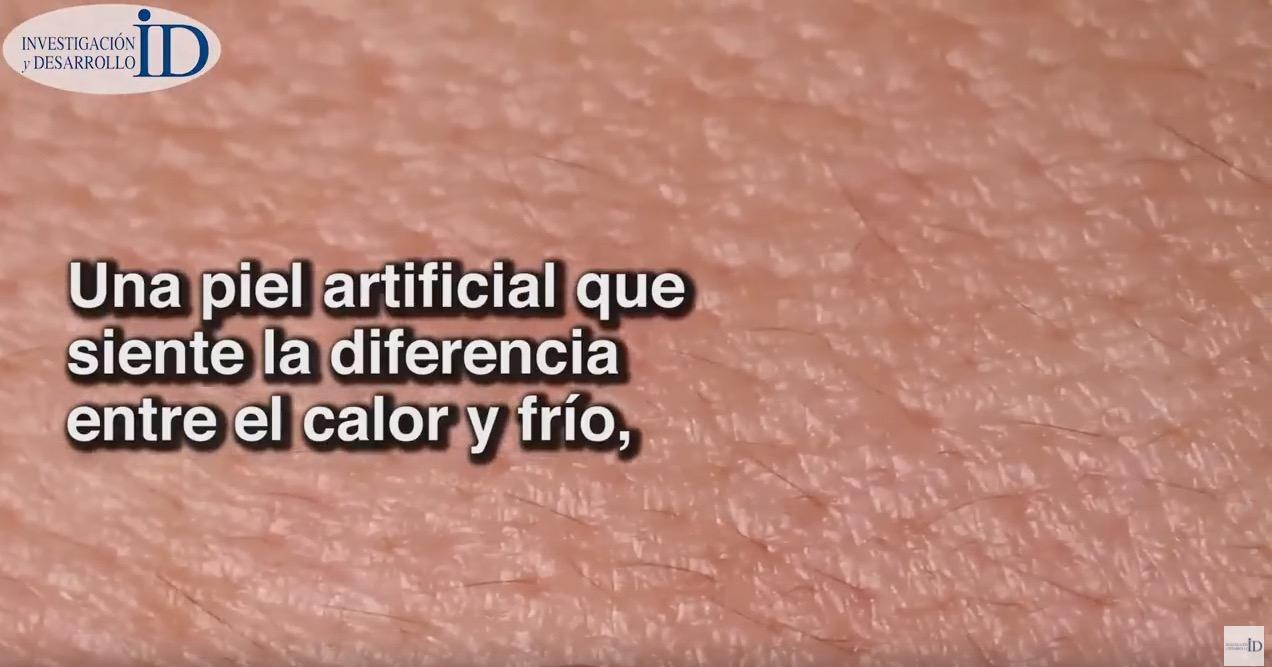 Diseñan piel artificial que siente la diferencia entre el calor y el frío