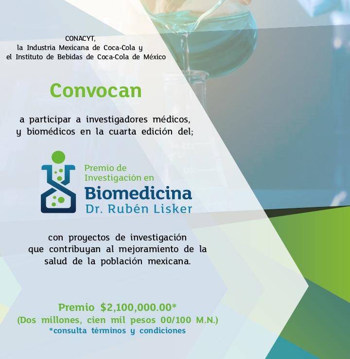"""Convocan a médicos y biomédicos para llevar a cabo la 4ª edición del Premio de Investigación en Biomedicina """"Dr. Rubén Lisker"""