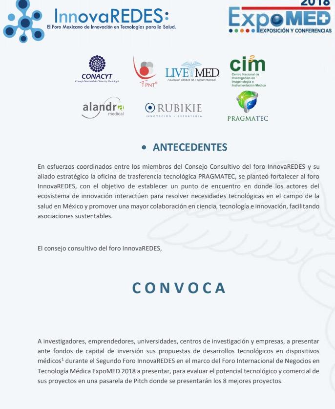Red OTT México hace de su conocimiento la Convocatoria que el Fondo Consultivo del Foro InnovaREDES extiende a a los distintos actores del ecosistema de innovación: