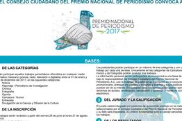 21 de agosto fecha límite para participar en el Premio Nacional de Periodismo